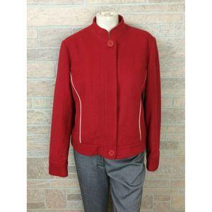 Tommy Hilfiger Women Red Jacket Coat Cashmere Wool